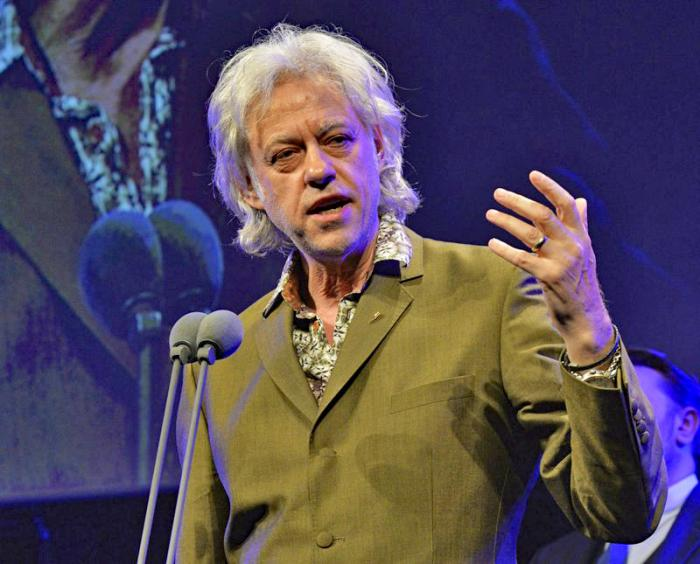 In this May 21, 2015 file photo, Bob Geldof appears at the 60th Ivor Novello Awards in London. Geldof's Live Aid concerts have raised millions