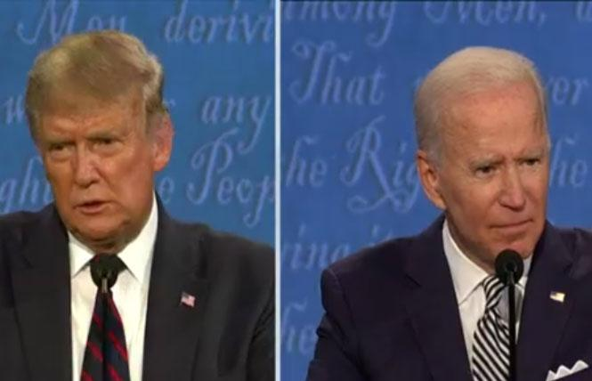 President Donald Trump and Joe Biden faced off during the first debate September 29