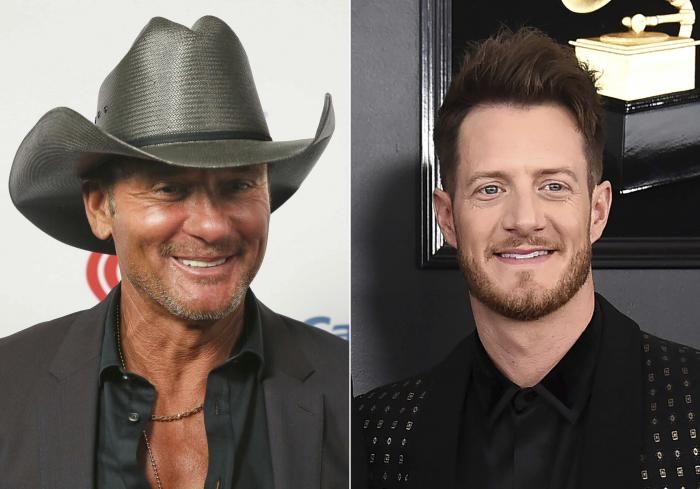 Tim McGraw, left, and Tyler Hubbard, right.