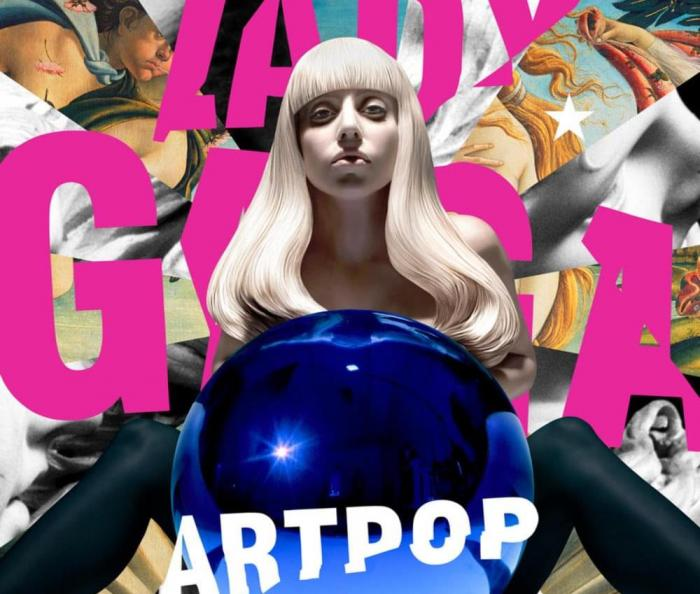 "Lady Gaga's ""Artpop"" album cover."