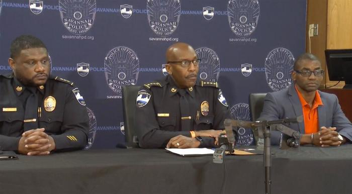 Savannah Police Chief Roy Minter holds a news conference on Saturday, June 12, 2021 in Savannah, Ga.