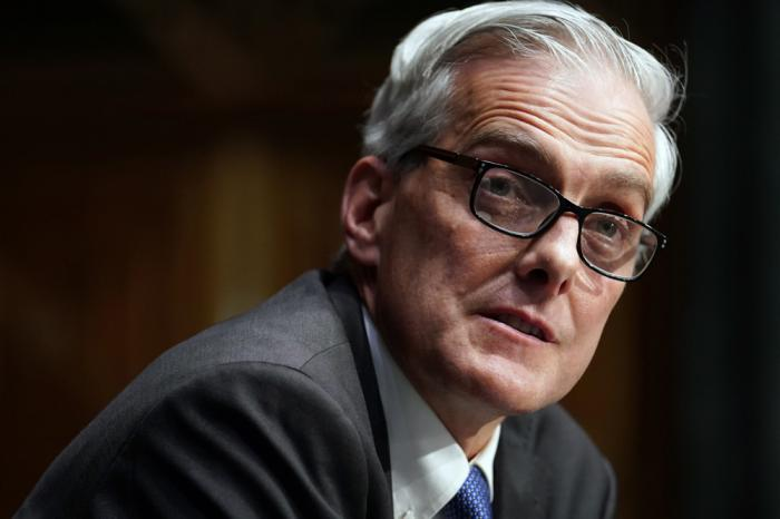 In this Wednesday, Jan. 27, 2021, file photo, Secretary of Veterans Affairs nominee Denis McDonough speaks during his confirmation hearing before the Senate Committee on Veterans' Affairs on Capitol Hill, in Washington