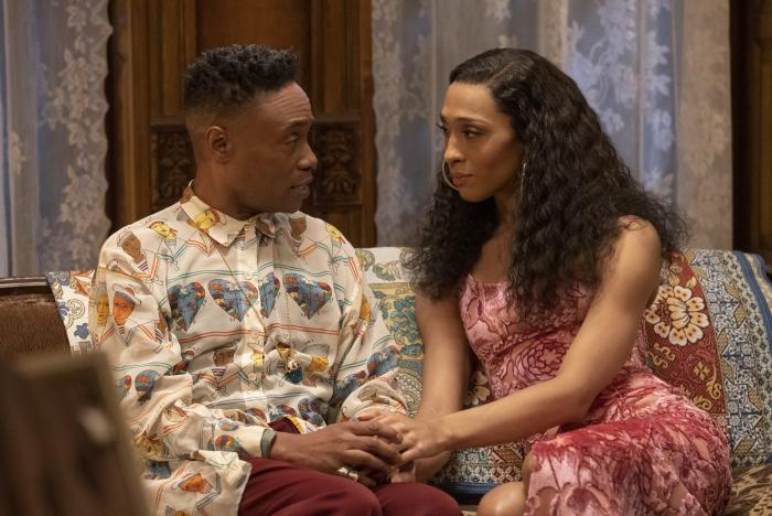 """Billy Porter as Pray Tell, left, and Mj Rodriguez as Blanca in a scene from """"Pose."""""""