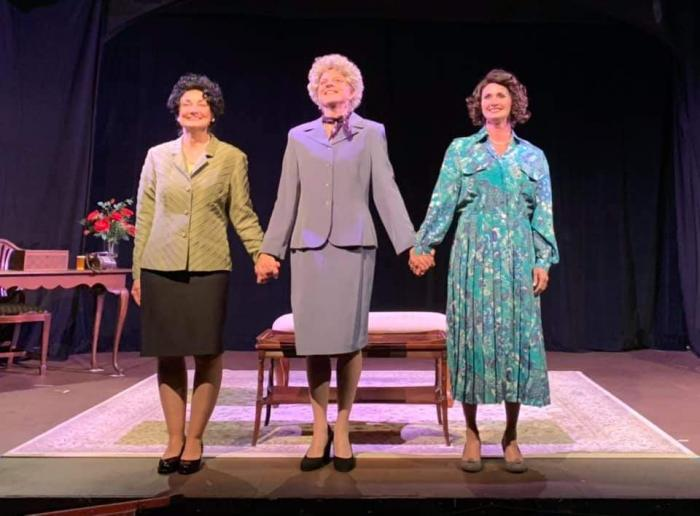 Photo: left to right - Darla Allen (Lady Bird), Claire Leatham (Pat Nixon), and Michelle Mania (Betty Ford).