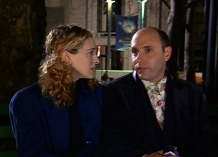 Sarah Jessica Parker, left, and Willie Garson, right.